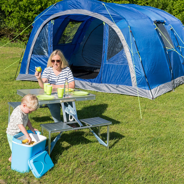 6 Man Tent 2 Bedrooms Living Room Sewn In Groundsheet ...