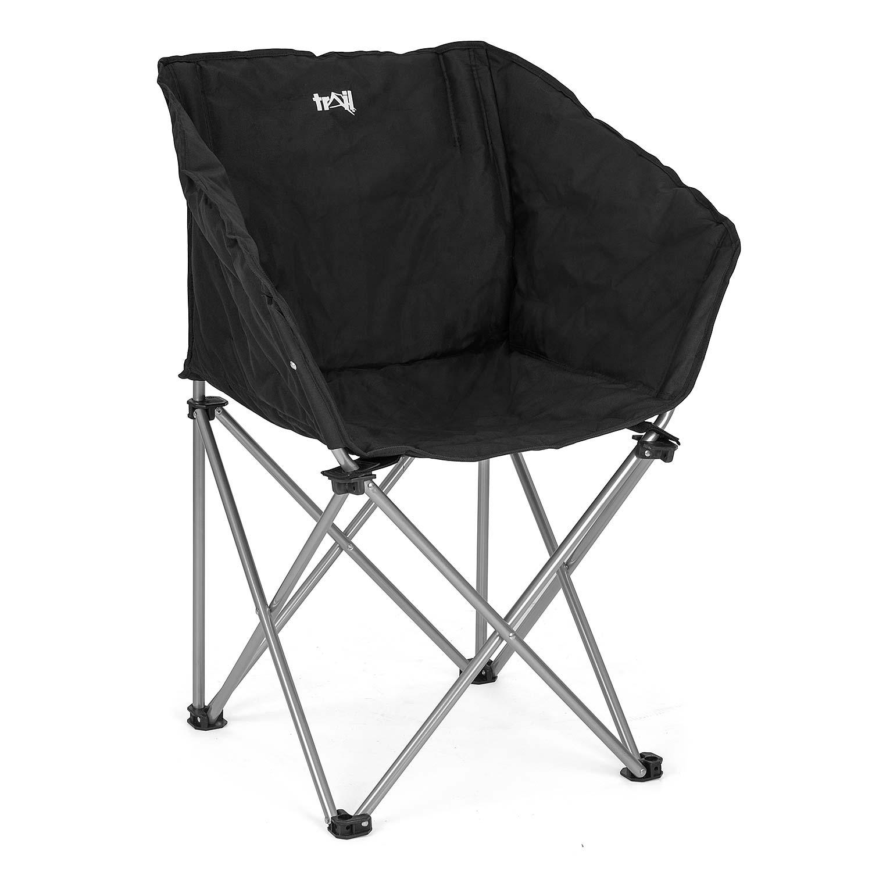Folding Camping Tub Chair Heavy Duty Padded Fishing Moon