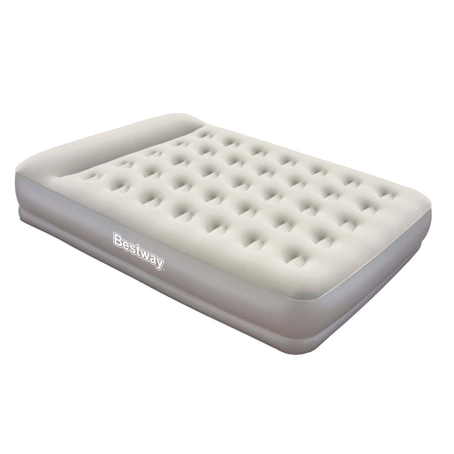 queen air bed inflatable airbed double guest mattress inbuilt pillow and pump ebay. Black Bedroom Furniture Sets. Home Design Ideas