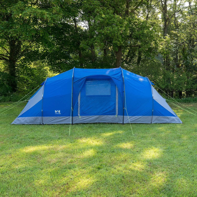 8 Man Tent 3 Bedrooms Living Room Sewn In Groundsheet ...